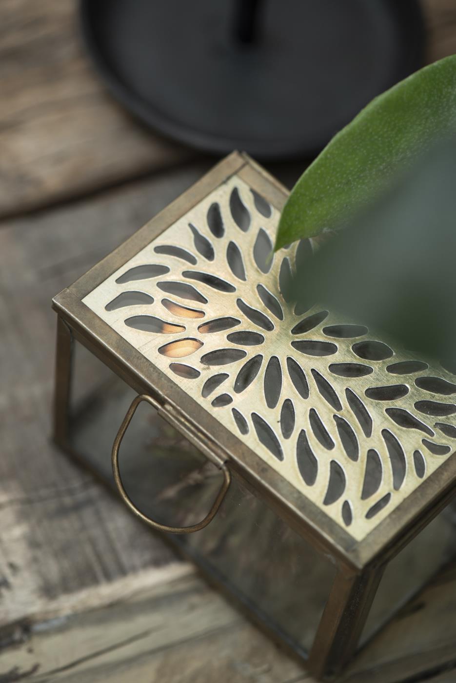 Glasbox mit Deckel Gold