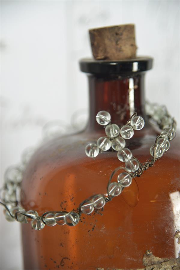 Krone Tiara Dekoration aus Perlen