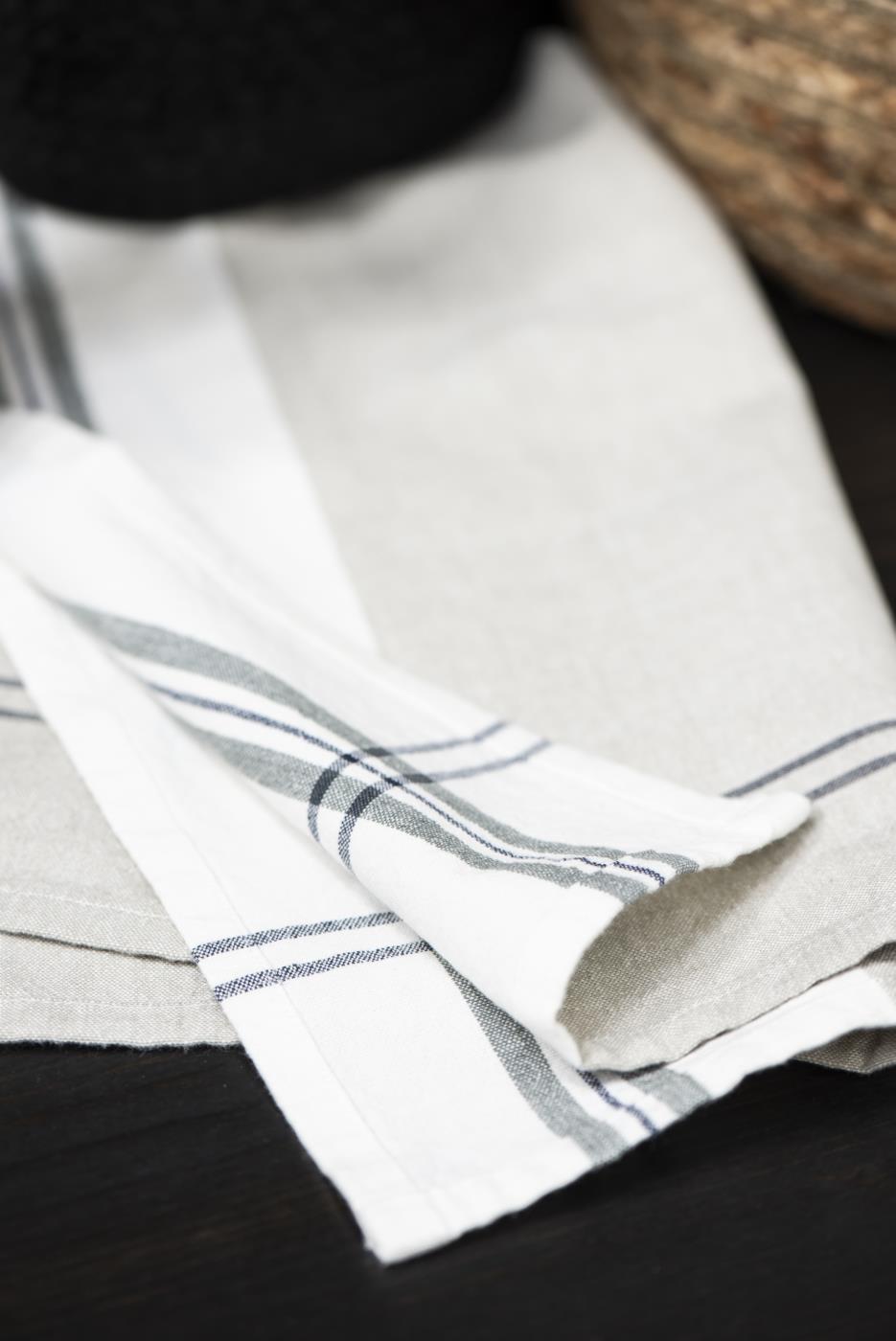 Geschirrtuch Grau 100% Baumwolle