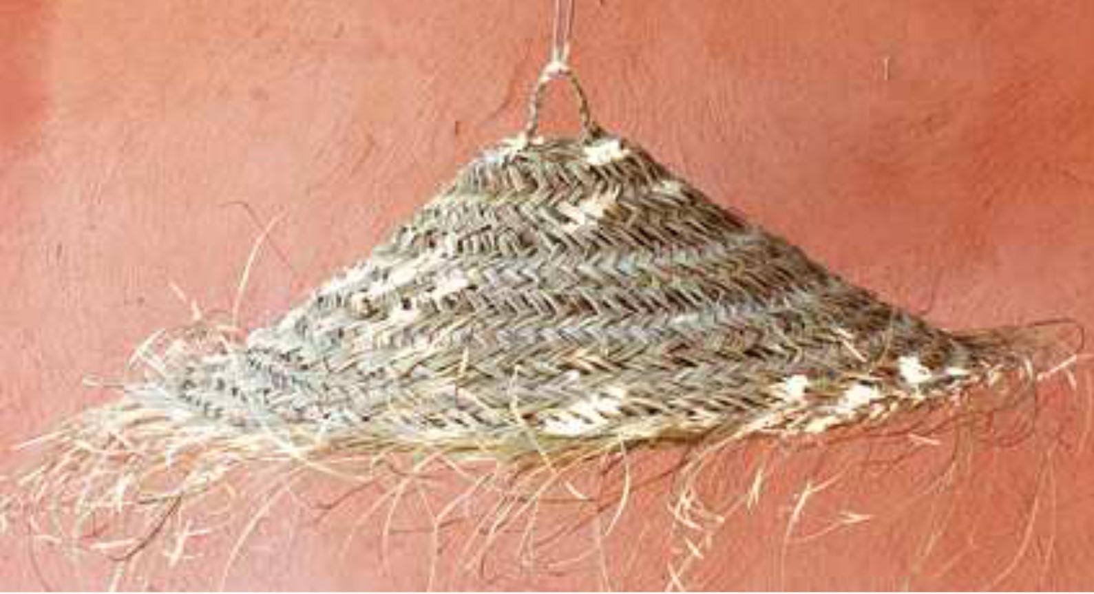 Lampenschirm aus Palmenblätter