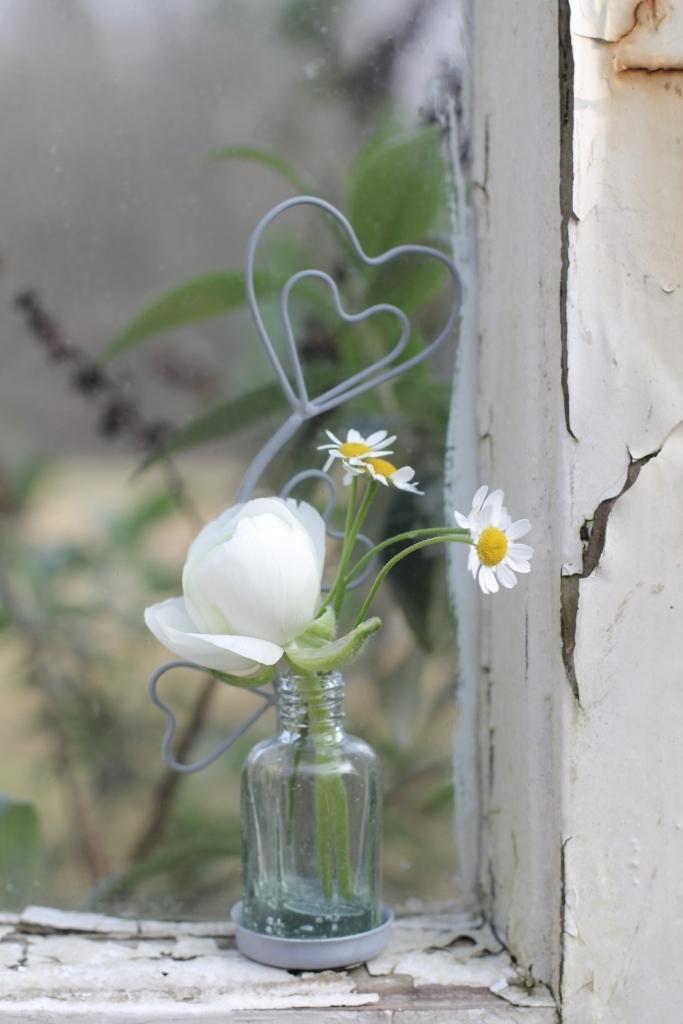 Kartenhalter Herz mit Vase