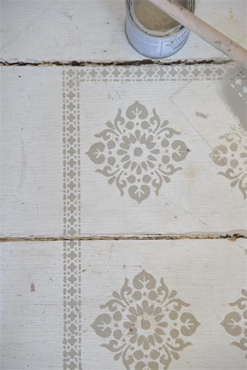 Vintage Paint Schablone  Schablone Bordüre