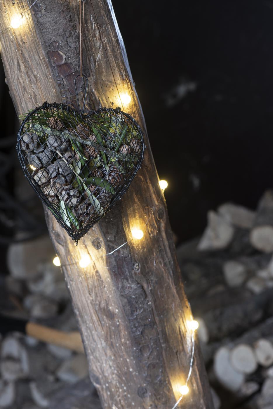 Herz aus Draht zum hängen und befüllen