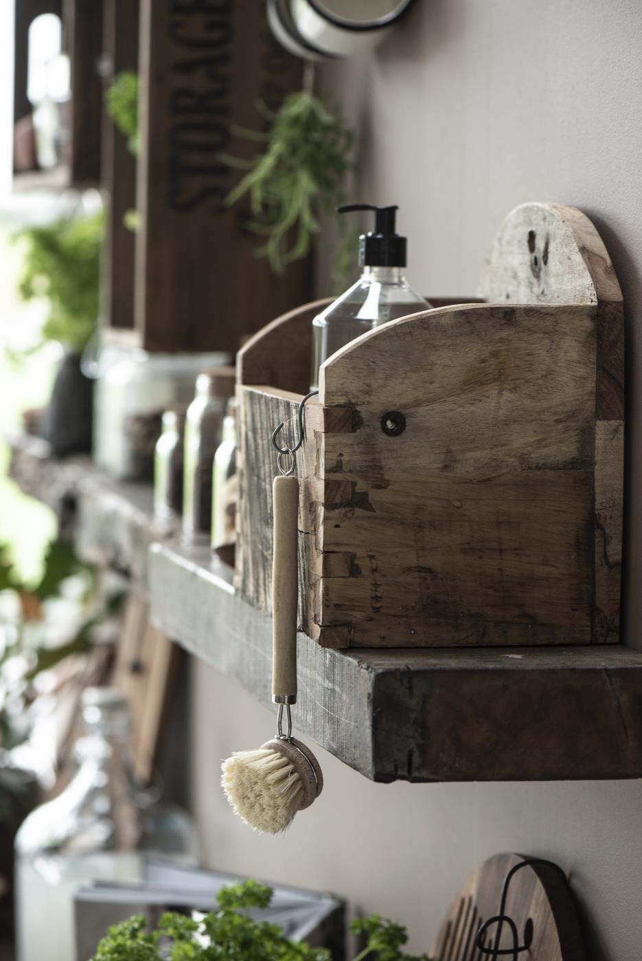 Spülbürste aus Holz mit Naturborsten