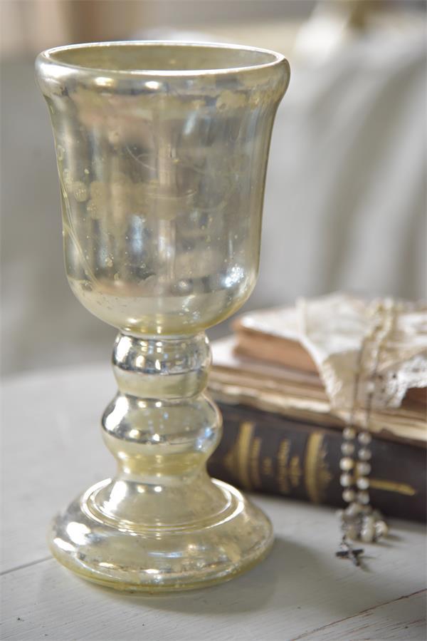 Glas aus Mercury mit Antik Finish