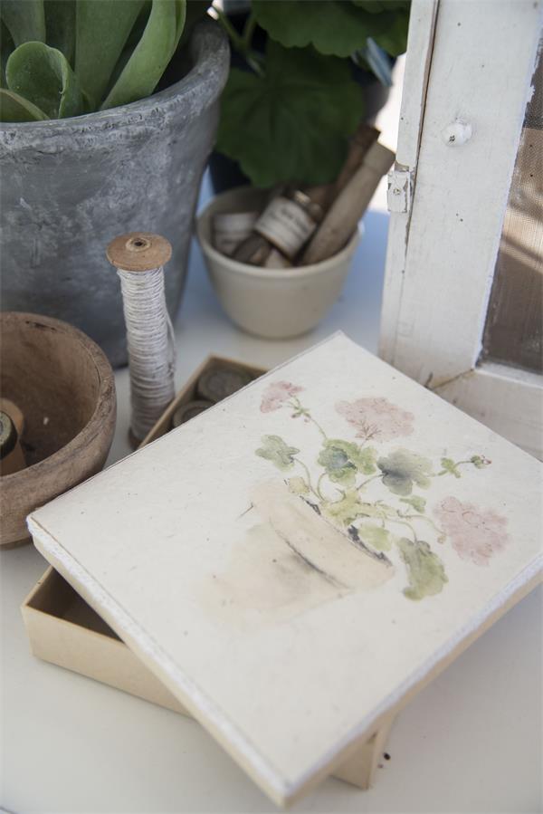 Vintage Aufbewahrungsbox Blumen